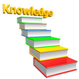 Books stairways to knowledge. 3d illustration Royalty Free Stock Photography