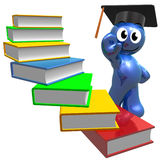 Books stairways to knowledge. 3d illustration Stock Photos