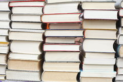 Books. Staked Books on a book stall Royalty Free Stock Photos