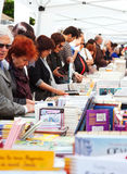 Books on stalls in Saint George day royalty free stock image