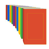 Books standing  in a perspective Royalty Free Stock Images