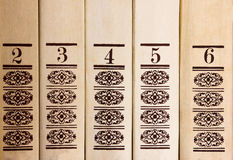 Books standing in a row Stock Photography