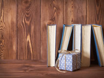 Books standing on the table Royalty Free Stock Photography