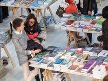 Books stands at Gaudeamus 2014 Stock Photo