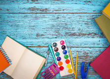Books and stationery items Stock Photography