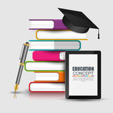 Books step education infographic vector Royalty Free Stock Photos