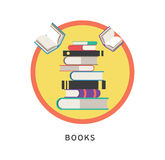 Books step education infographics. Vector Stock Photos