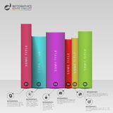Books steps. Education infographic Template. Vector Stock Photos