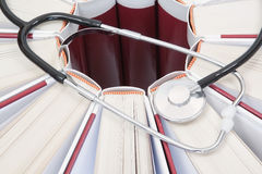 Books and stethoscope. Royalty Free Stock Image