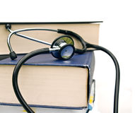 Books and stethoscope Royalty Free Stock Photography