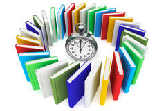 Books with StopWatch Stock Image