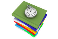 Books with StopWatch Royalty Free Stock Photography