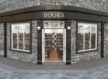 Books store exterior, 3d illustration Stock Image