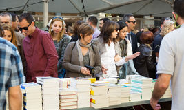 Books on street stalls  in Barcelona Royalty Free Stock Photos