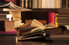 Books in a study room Royalty Free Stock Photography