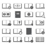 Books and Symbols Icons Set Royalty Free Stock Image
