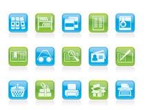 books symbolsarkivet stock illustrationer