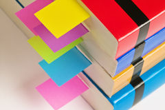 Books with tab organizers Royalty Free Stock Images