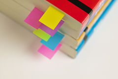 Books with tab organizers Stock Photography