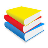 The books on a table Stock Photos