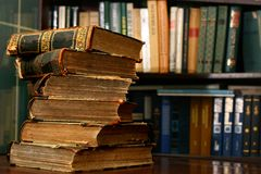 Books on table Royalty Free Stock Images