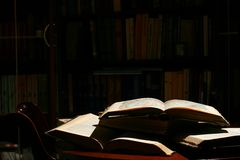 Books on table Stock Images