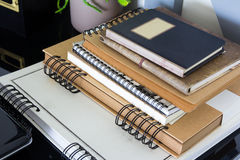 Books on the table. Close up books on the table Stock Image