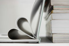 Books on the table. Composition with books on the table Royalty Free Stock Images