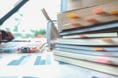 Books on table. Education, Learning and Academic background conc Royalty Free Stock Images