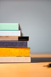 Books on the table. No labels, blank spine Royalty Free Stock Photo