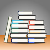 Books on the table. Stock Images