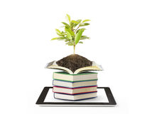 Books and tablet computer Stock Photos