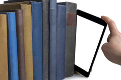 Books and tablet computer Royalty Free Stock Photos