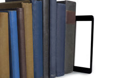 Books and tablet computer Stock Image