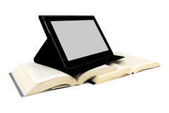 Books and a tablet device Royalty Free Stock Photography