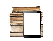Books and tablet pc Royalty Free Stock Images