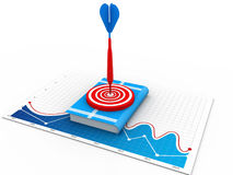 Books on Target with arrow Stock Photography