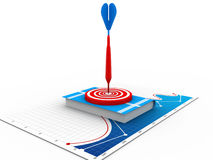 Books on Target with arrow Stock Images