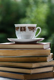 Books and tea Royalty Free Stock Photography