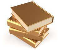 Books textbook stack gold blank yellow golden manual answer. Books textbook stack gold blank yellow golden manual faq. School studying information content learn Royalty Free Stock Image