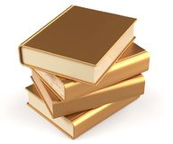 Books textbooks stack gold blank yellow golden four. Books textbooks stack gold blank yellow golden manual faq. School studying information content learn Stock Photo