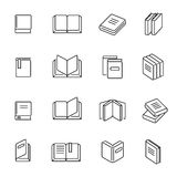 Books thin line icons vector stock illustration