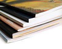 books tidskrifter Royaltyfria Bilder