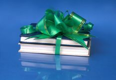 books, tied to a gift Royalty Free Stock Images