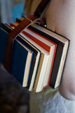 Books tied together with a belt Royalty Free Stock Photography