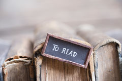 Books to read tag, retro composition Royalty Free Stock Image