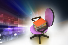 Books on the top of chair Royalty Free Stock Photo