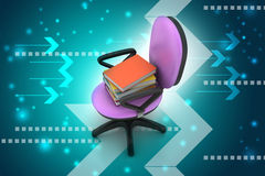 Books on the top of chair Stock Photography