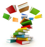 Books Tornado. Isolated on white royalty free illustration