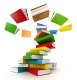 Books Tornado. Isolated on white Royalty Free Stock Photos